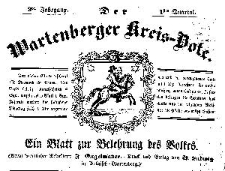 Wartenberger Kreisbote 1848-10-04 Jg.1 Nr 1
