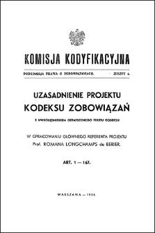 Komisja Kodyfikacyjna. Podkomisja Prawa o Zobowiązaniach. Z. 4