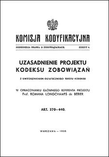 Komisja Kodyfikacyjna. Podkomisja Prawa o Zobowiązaniach. Z. 8