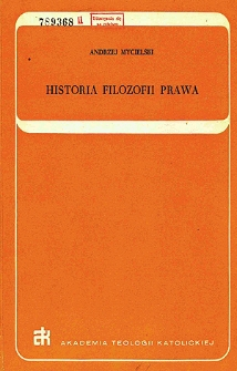 Historia filozofii prawa