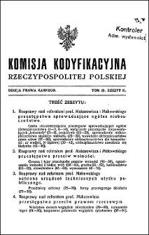 Komisja Kodyfikacyjna Rzeczypospolitej Polskiej. Sekcja Prawa Karnego. T. 3, z. 2
