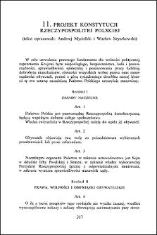 Projekt konstytucji Rzeczypospolitej Polskiej