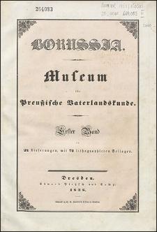 Borussia. Museum für Preußische Vaterlandskunde Bd. 1 (1838), Lief. 1