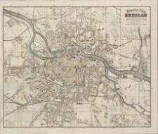Neuester Plan von Breslau nach dem vom Magistrat herausgegeben Plane [...] gezeichnet und litographirt von O. Brunn