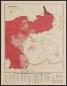 Sprachenkarte der Deutschen Ostmarken. Entworfen von Dietrich Schäfer