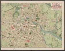 Pharus-Plan Breslau. Ausgabe des Vereins zur Hebung des Fremden-Verkehrs in Breslau