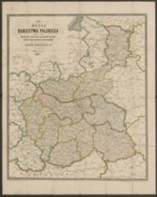 Mappa Królestwa Polskiego z wykazaniem wszelkich dróg oraz odległości na nich, ułożona podług najnowszych źródeł urzędowych