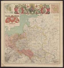 Mapa Polski z wieku XV. Z uwzględnieniem podziałów politycznych, obecny teren wojny