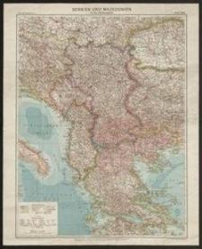 Serbien und Mazedonien mit den Nachbargebieten
