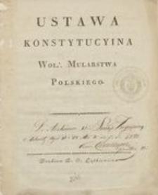 Ustawa konstytucyina Wol. Mularstwa Polskiego