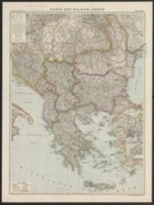 Karte der Balkanländer