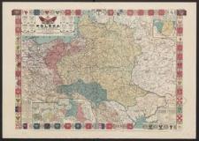Polska w trzech zaborach w granicach przedrozbiorowych w 1770 r. oraz w innych ważniejszych okresach historycznych