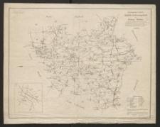 Amtliche Entfernungskarte des Kreises Ratibor