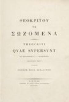 Theocriti quae supersunt