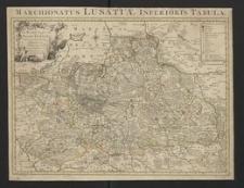 Le Marquisat de Basse Lusace divisé en ses Cercles, Seigneuries et Senechaussées etc.