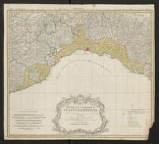 Mappa geographica Status Genuensis ex subsidiis recentissimis praecipue vero ex majori mappa du Chafrion [...]