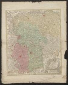 Nova tabula geographica exhibens Ducatum Brabantiae cum pertinentiis et adjacentibus regionibus