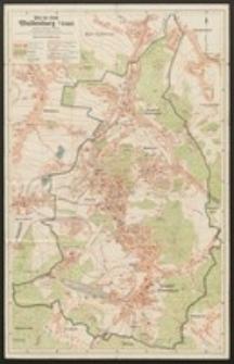 Plan der Stadt Waldenburg i./ Schles.