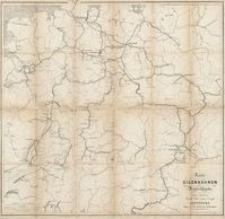 Karte der Eisenbahnen Deutschlands
