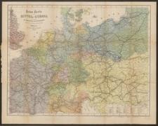 Reise-Karte von Mittel-Europa : mit Angabe der Bahnstationen und Postverbindungen