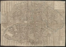 Plan routier de la ville et fauxbourgs de Paris divisé en 12 municipalités