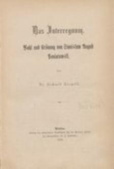 Das Interregnum : Wahl und Krönung von Stanislaw August Poniatowski