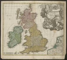 Magna Britannia complectens Angliae, Scotiae et Hiberniae Regna in suas provincias et comitatus divisa