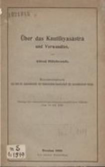 Über das Kautilīyaśāstra und Verwandtes