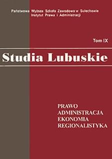 Glosa do wyroku Naczelnego Sądu Administracyjnego z dnia 8 maja 2012 r. sygn. akt. II OSK 401/12