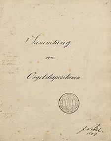 Sammlung von Orgeldispositionen. Beschreibung von 133 Orgeln.