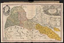 Ducatus Curlandiae juxta Barnikelii Architecti Curici primarii Geometricam Delineationem Geographica Tabula expressus, studio Homanniorum Heredum.