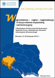 Reforma samorządowa kraju – jej skutki w sferze prawa cywilnego. Osobowość prawna jednostek samorządu terytorialnego – wybrane aspekty