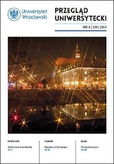 Przegląd Uniwersytecki (Wrocław) R.19 Nr 4 (201) 2013
