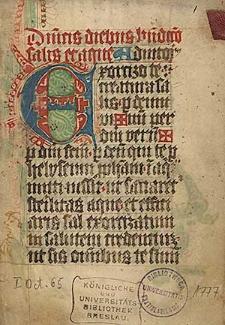 Agenda der Augustiner Chorherren zu Sagan