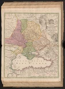 Tabula Geographica qua pars Russiae Magnae Pontus Euxinus seu Mare Nigrum et Tartaria Minor cum finitimis Bulgariae, Romaniae et Natoliae Provinciis exhibetur a Ioh. Baptista Homanno.