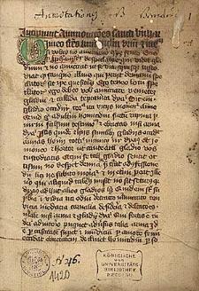 Admonitiones ; Sermo de corpore Christi ; Auctoritates theologicae