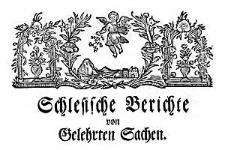 Schlesische Berichte von Gelehrten Sachen. 1757-10-31 Nr 40