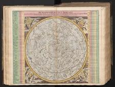 Hemisphaerium coeli boreale in quo loca Stellarum fixarum secundum Aequatorem, per Ascensiones nempe rectas et Declinationes ad annum Christi 1730 completum sistuntur
