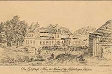 Das Gesellschafts=Haus in Stonsdorf bey Hirschberg in Schlesien