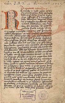 Tractatus de quattuor novissimis et tribus necesariis ; Tractatus de oratione ; Statuta synodalia ecclesiae Cracoviensis