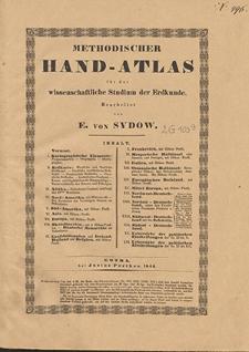 Methodischer Hand-Atlas für das wissenschaftliche Studium der Erdkunde