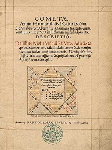 Cometae, anno humanitatis 1578 a 10 Novembris per Decembrem in 13. Ianuarij sequentis anni continuis ....
