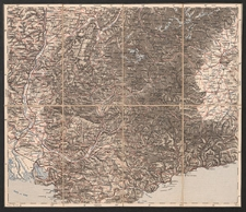 Übersichtskarte von Mittel-Europa. westl. A.4. Turin, Marseille, Avignon, Antibes