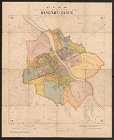 Plan miasta stołecznego Warszawy i okolic : z oznaczeniem nowych granic oraz okręgów milicyjnych