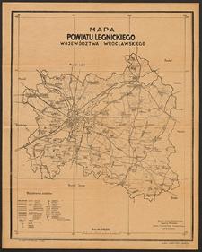 Mapa powiatu legnickiego województwa wrocławskiego