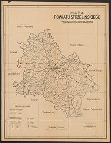 Mapa powiatu strzelińskiego : województwo wrocławskie