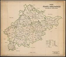 Mapa powiatu wrocławskiego : województwo wrocławskie