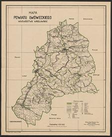 Mapa powiatu lwóweckiego : województwo wrocławskie
