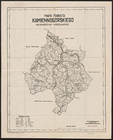 Mapa powiatu kamiennogórskiego : województwo wrocławskie