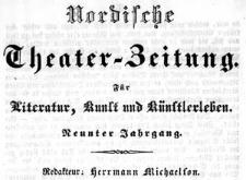 Breslauer Theater-Zeitung (Breslauer) Nordische Theater-Zeitung. Unterhaltungsblatt für Literatur, Kunst und Künstlerleben 1838-09-15 Jg. 9 No 143